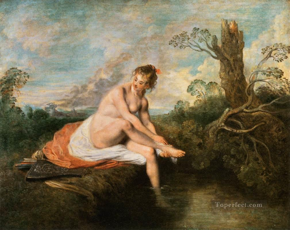 diana at her bath Jean Antoine Watteau Oil Paintings